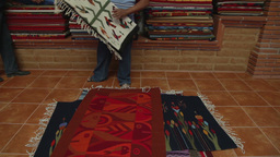 weaving carpets mexico art craft Footage