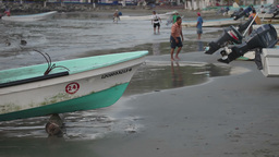 fishermen fish boats mexican coast Footage