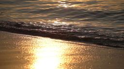 golden sunrise over the sea Footage