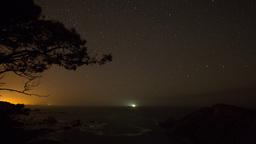 4k stars beach night coast spain star lapse timelapse Footage