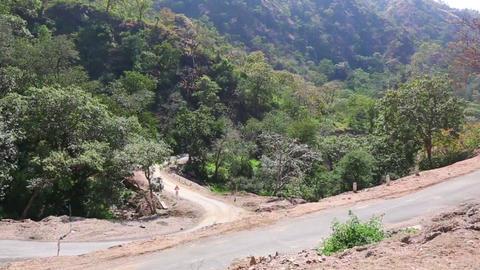 Serpentine Road stock footage