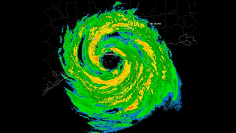 *LOOP* Hurricane Ike (2008) Landfall Time Lapse Animation