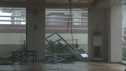 Hurricane Winds Destroy Rooftop Typhoon Haiyan Tacloban Footage