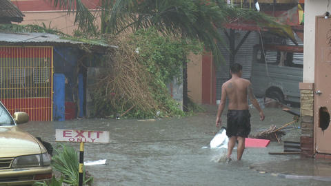 Storm Surge Flooding In Tacloban Typhoon Haiyan Footage
