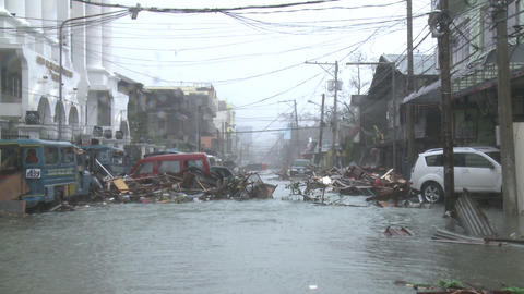 Typhoon Haiyan Devastation Storm Surge Flooding Tacloban Footage