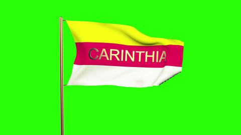 Carinthia Flag With Title stock footage