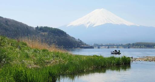HD/4K 河口湖_Lake Kawaguti stock footage