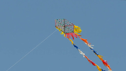 A Kite Float In The Wind stock footage