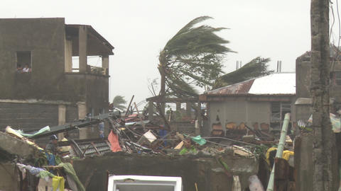 Typhoon Haiyan Storm Surge Destruction In Tacloban Footage