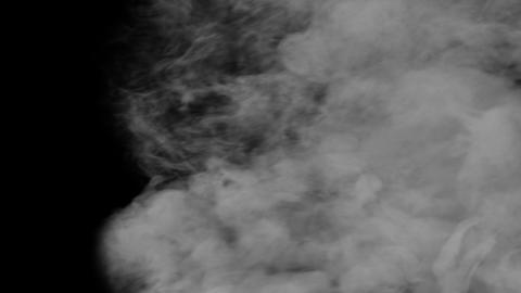 Smoke Transition 3 Alpha Channel stock footage