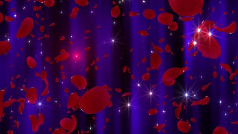 Rose Petals neon Red Dw 4 K CG動画