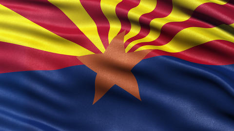 4K Arizona state flag seamless loop Ultra-HD Animation