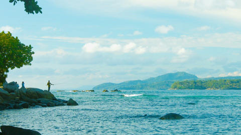 South Sea coast. Bay of Phuket. Thailand Footage