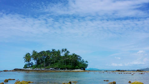 Tropical Asian Island In Timelapse stock footage