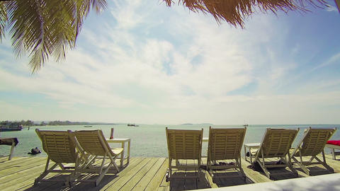 Deck Chairs in the Sun at Sihanoukville Footage