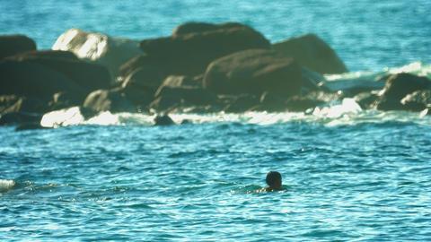 PHUKET. THAILAND - CIRCA SEP 2014: Local man checks traps for fish in the sea ne Footage