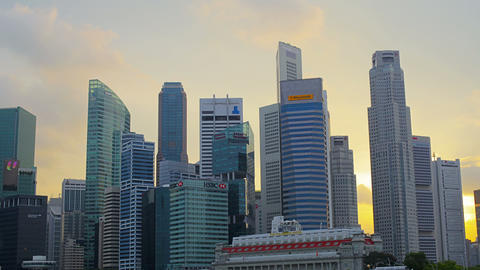 SINGAPORE - CIRCA JAN 2014: Skyscrapers in Singapore. Offices of large corporati Footage