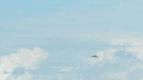 PHUKET. THAILAND - CIRCA NOV 2014: Commercial airplane increases altitude as it Footage