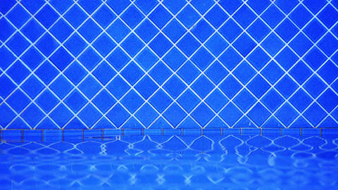 Water Lapping at Tiled Wall of Swimming Pool Live Action