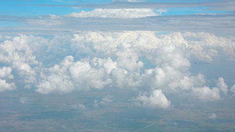 Cumulus and Stratus Clouds from Airborne Perspective Footage
