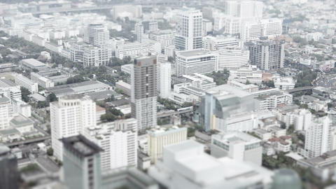 3840x2160 video - Asian city. Top view with shallow depth of field effect Live Action