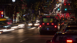 Busy Night Traffic At Rush Hour stock footage