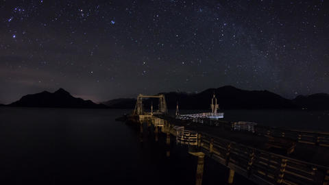 Starry night at Porteau Cove Provincial Park Footage