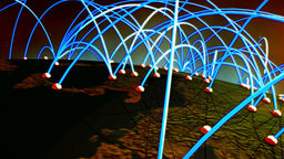 Business Flight Network Connections over Europe Flyover with Mattes 3 Animation
