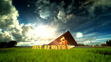 Photo On Grass After Effects Template