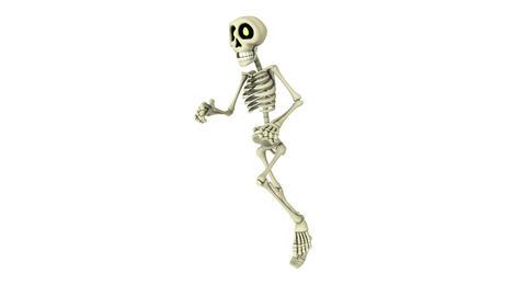 4k 走る骸骨 Animation