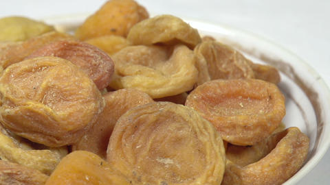 Dried Apricots in a Bowl HD Footage