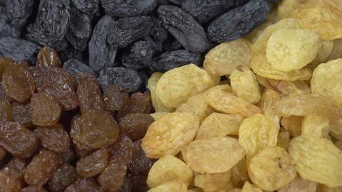 Three Kinds of Raisins HD Footage