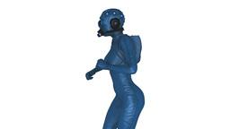 ガスマスクを着けた女性, Stock Animation