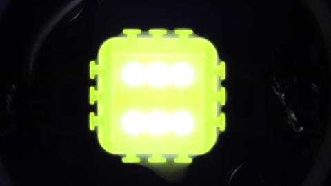 Single Super Bright Led Light 10W Zooming with Flashing . 4K UltraHD, UHD Footage
