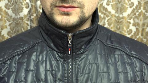 Man Zipping His Dress Closeup.. 4K UltraHD, UHD stock footage