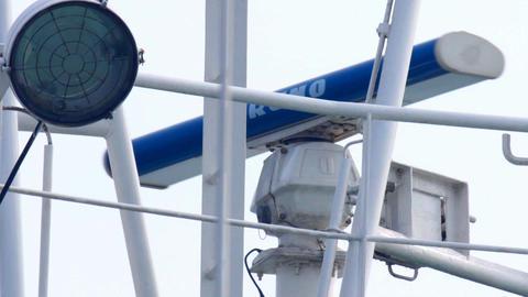 Shipborne Radar Rotates stock footage