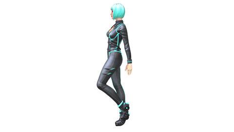 歩く女性 CG動画