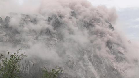 Earthquake Shakes Volcano Lava Dome Rare Footage Live Action
