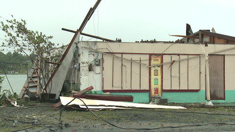 Hurricane Wind Damage To Building Footage