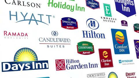 *REVERSE* Hotel Brands Logo Loop Animation