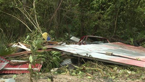 Hurricane Storm Surge Destruction And Aftermath Footage