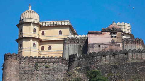 Kumbhalgarh Fort stock footage