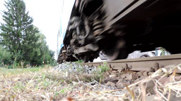 Train Pass By Very Close stock footage