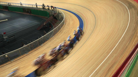 Cycling Track Pursuit stock footage