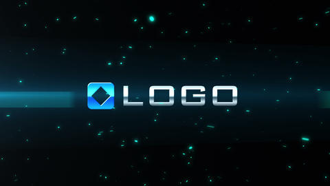 Light Streak Particle Blast Logo Reveal Intro After Effects Template