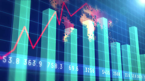Financial Chart Background Footage stock footage