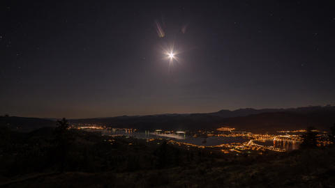 Time Lapse Of Moon Eclipse In Osoyoos stock footage