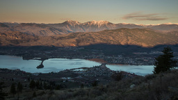 Morning sunrise at Osoyoos in British Columbia Footage