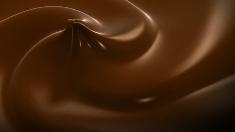 Wavy Chocolate Close-up Looped Animation. HD 1080 Animation