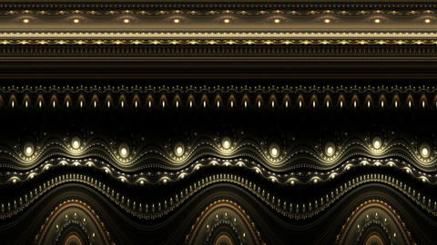 Animated ornamental vintage decorative background Animation